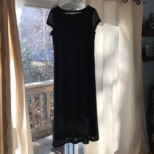 Women's black maxi dress with pretty beaded detail